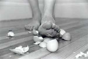 narcissistic personality disorder- walking on eggshells