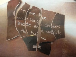 The note found on Lisa Harum's body after she was thrown off her balcony.