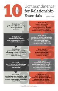 10 Commandments for Relationship Essentials