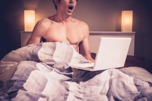 partner watching porn